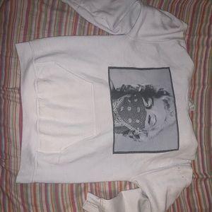 White Marilyn Monroe Hoodie